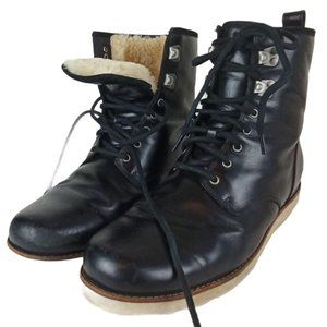 UGG Men's Hannen Leather Shearling Combat Boots
